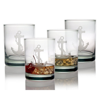 Anchor on the Rock Glasses (set of 4)