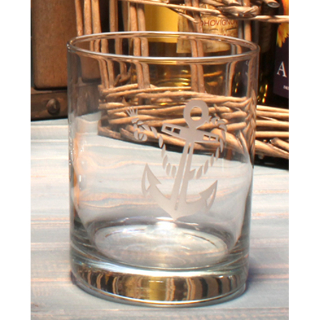 Rope with Anchor Double Old Fashioned Glasses (set of 4)