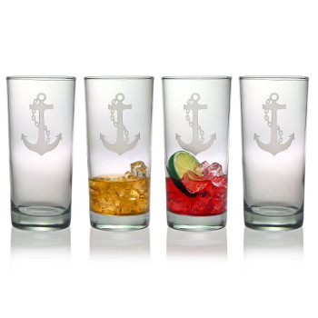 Anchor High Ball Glasses (set of 4)