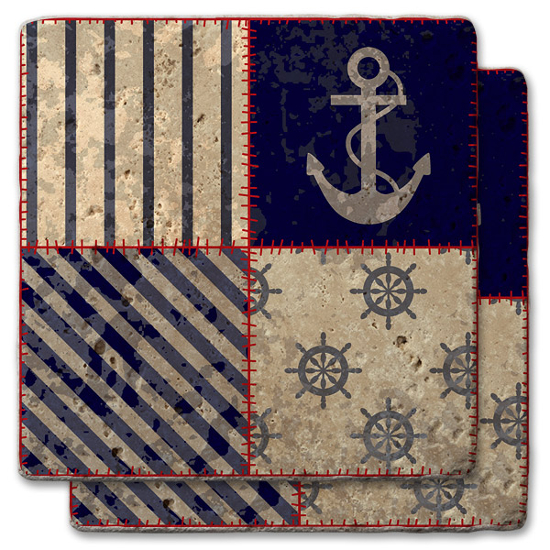 Anchor Quilt Nautical Coasters (set of 2)