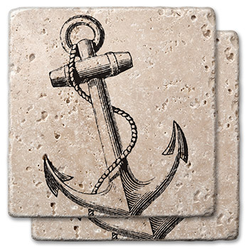Anchor Stone Coasters (set of 2)