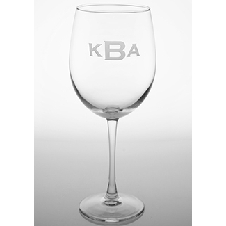 Monogrammed All Purpose Wine Glasses (set of 4)