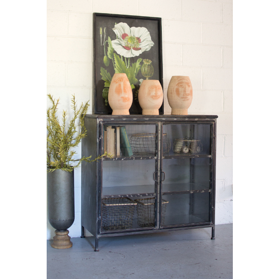 Iron and Glass Apothecary Buffet Table