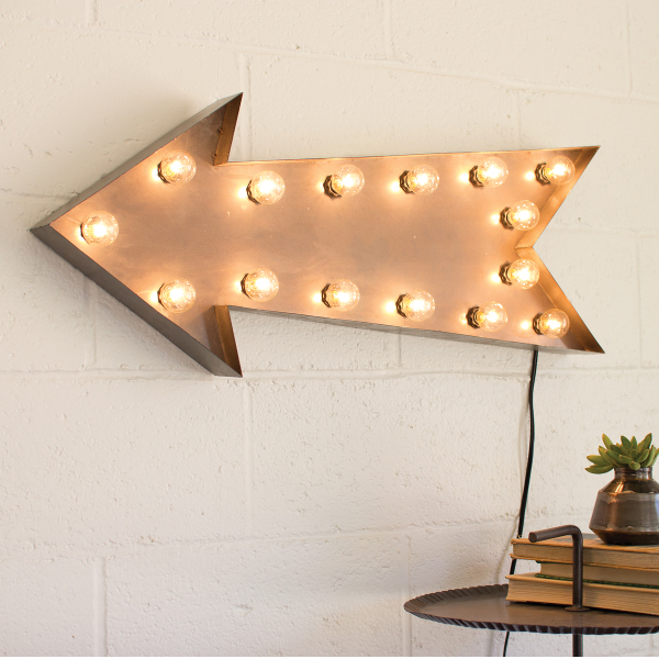 Vintage Arrow Lighted Sign