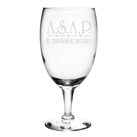 As Southern As Possible Footed Iced Tea Glasses (set of 4)