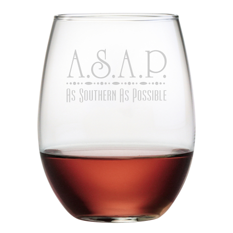 As Southern As Possible Stemless Wine Glasses (set of 4)