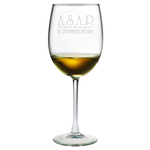 As Southern As Possible Stemmed Wine Glasses (set of 4)