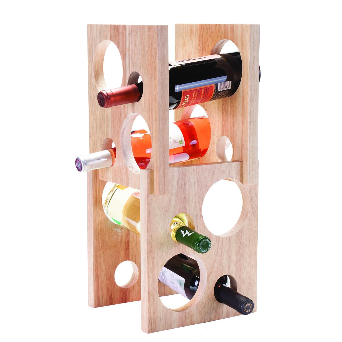 Astro 8 Bottle Wood Wine Rack