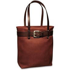 Belmont Open Top Tote with Belt Design