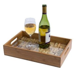 Oenophilia Bamboo Wine Cork DIY Serving Tray Kit