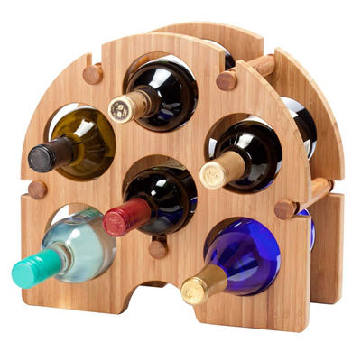 Greenophile Bamboo Arch, 6 Bottle Wine Rack