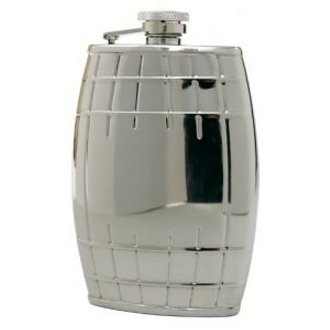 Stainless Steel Barrel Captive-Top Flask, 6 oz