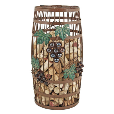 Grapevine Barrel Cork Holder