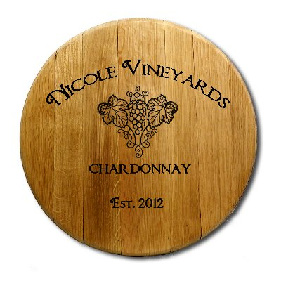 Wall Mount Barrel Head with Grapevine Art