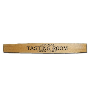 Open Daily Barrel Stave Tasting Room Sign