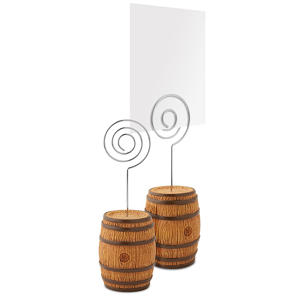 Barrel Photo Holder or Place Card Holder (Set of 16)