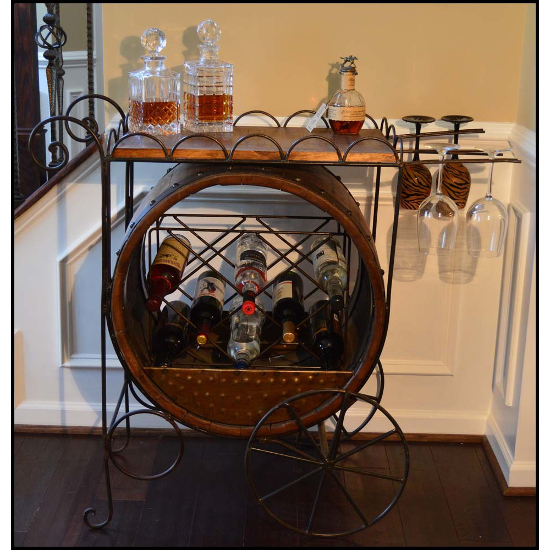 Barrel Serving Cart
