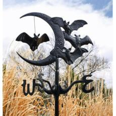 Bat & Moon Garden Weathervane