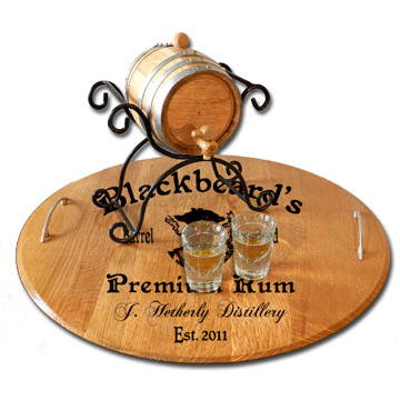 Personalized Serving Tray - Black Beard