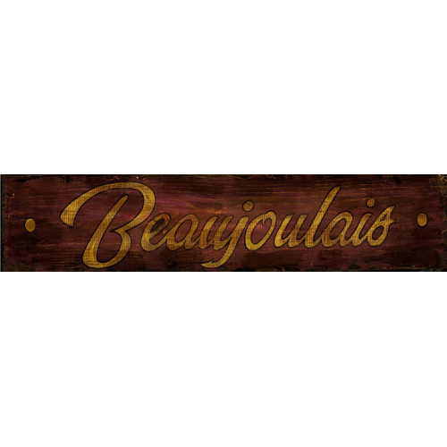 Personalized Beaujolais Wine Sign