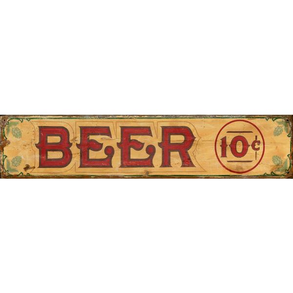 Personalized Vintage Beer Sign