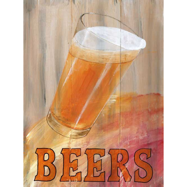 Personalized Beer Glass Sign