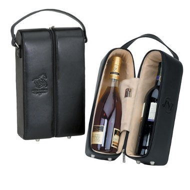 The Vineyard Leather Wine Case with Logo (36 Pieces)