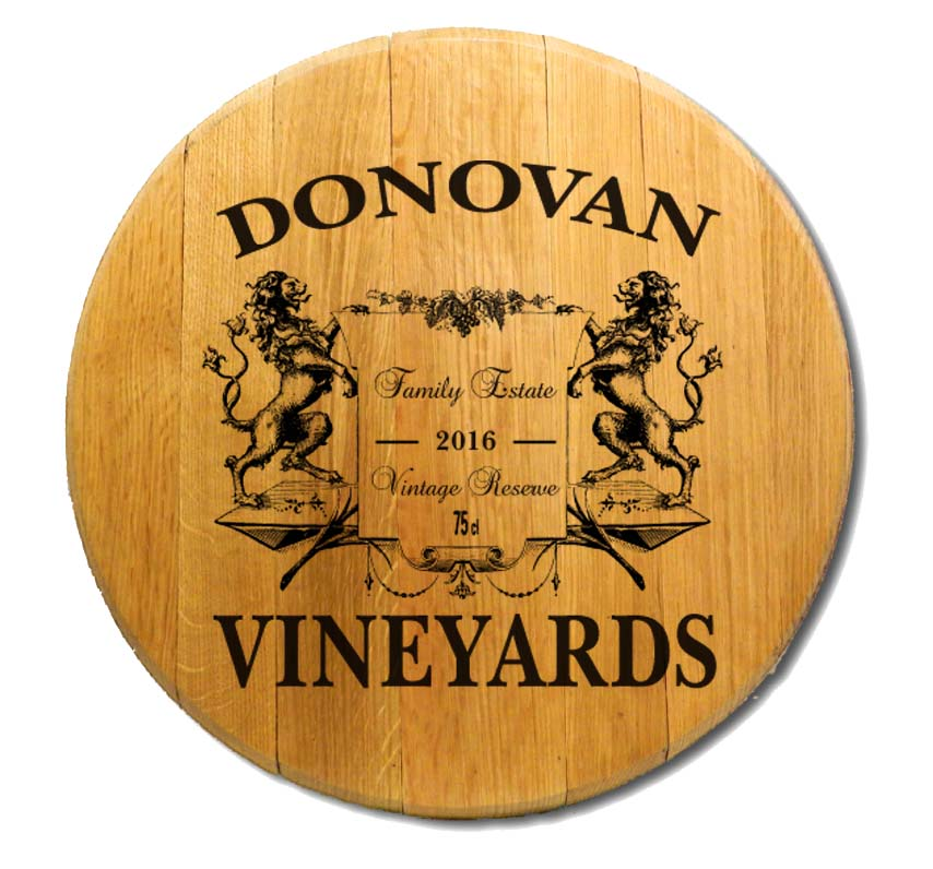 Personalized Barrel Head Lions Wall Art