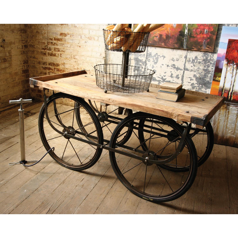 Reclaimed New Delhi Street Vendor Cart Coffee Table