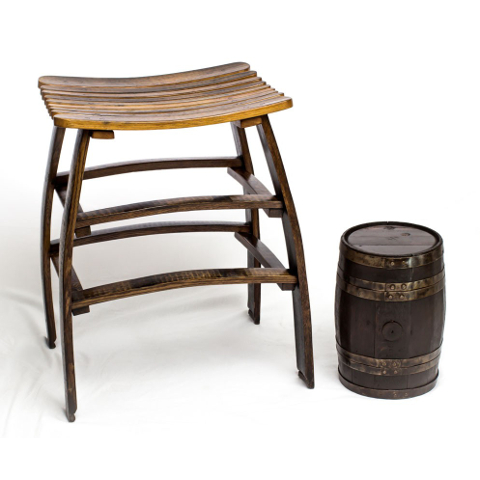 Big Rich Barrel Stave Stool
