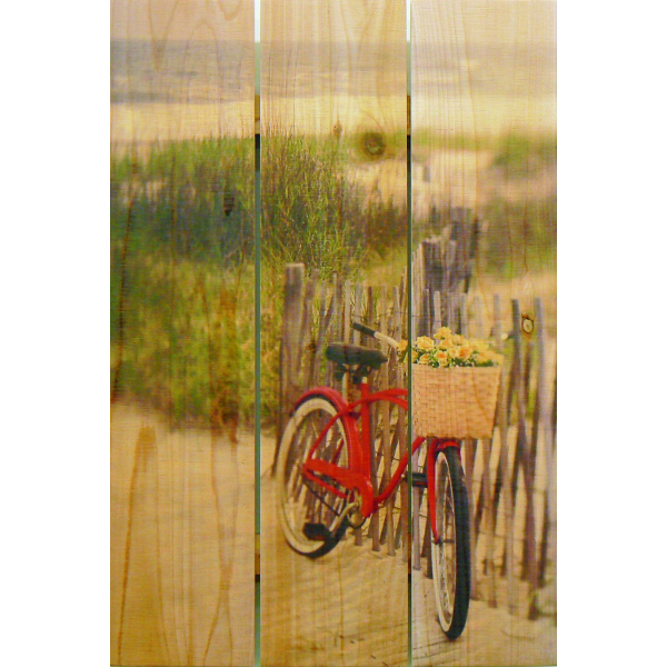 Beach side Bicycle Wall Art