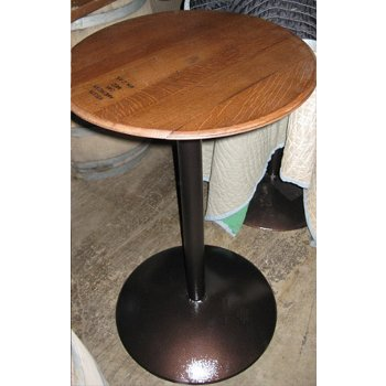 Barrel Head Bistro Tasting Table with Pedestal Base