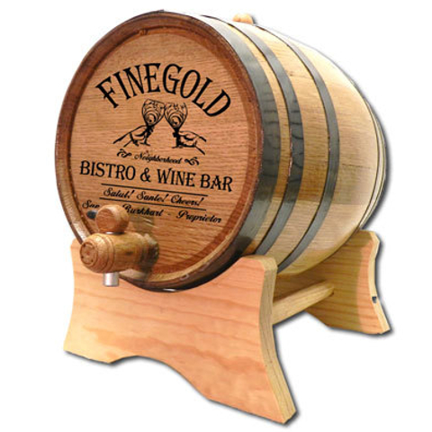 Personalized Bistro White Oak Aging Barrel
