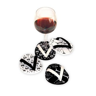 Black and White Flip Flop Coasters