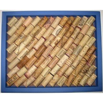 Bright Blue Wine Cork Board