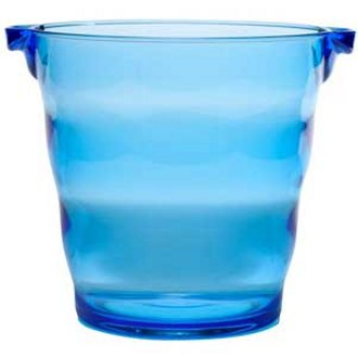 Blue Plastic Party Bucket, 2 Bottle
