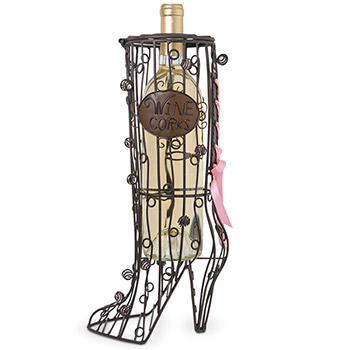 High Heel Boot Wine Corks Cage