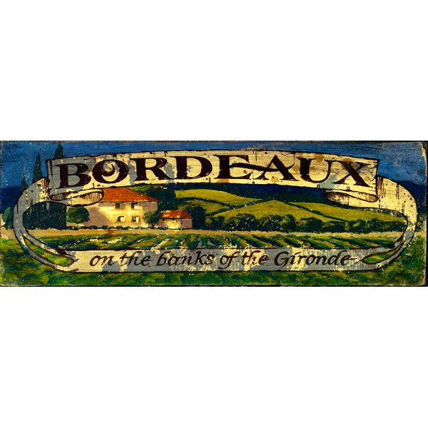Custom Bordeaux Wine Sign