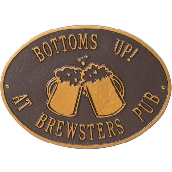 Beer Mugs Personalized Wall Plaque