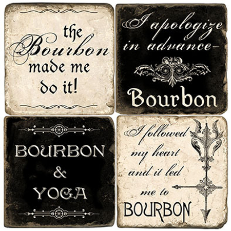Bourbon Italian Marble Coasters (set of 4)