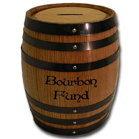 Bourbon Fund Mini Oak Barrel Bank