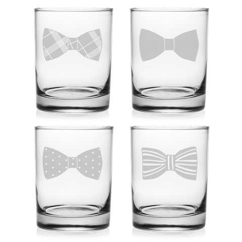 Bow Ties DOR Glasses (set of 4)