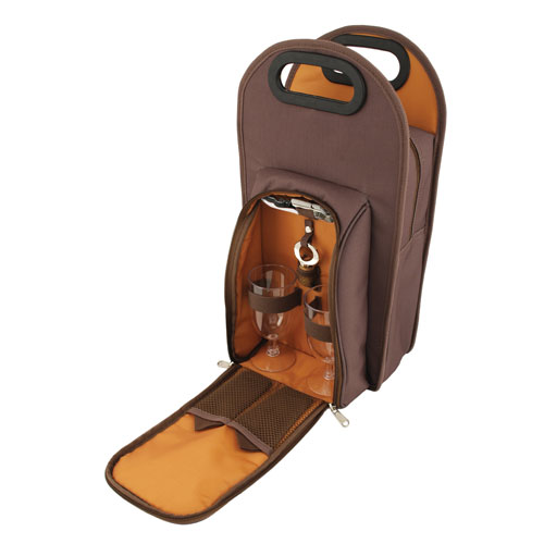 Brown Metropolitan 2-Bottle Tote