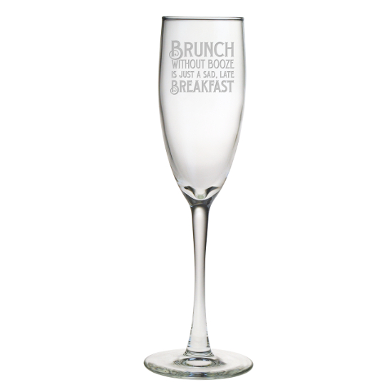 Brunch Without Booze Champagne Flutes (set of 4)