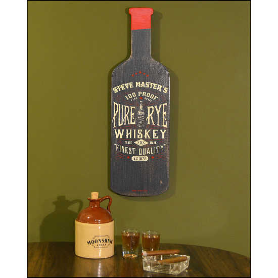Personalized Rye Whiskey Bottle Sign