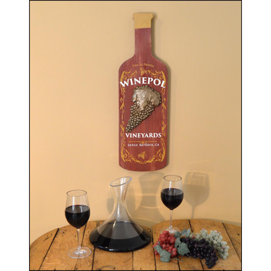Personalized Wine Bottle Sign