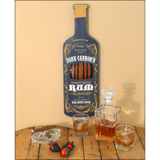 Personalized Rum Bottle Sign