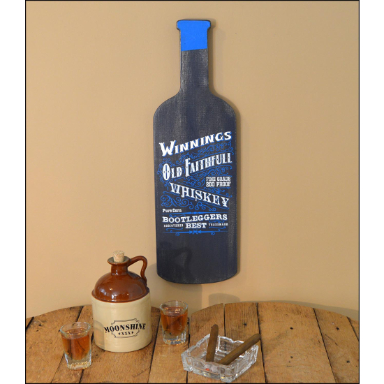 Personalized Old Faithful Whiskey Bottle Sign