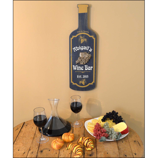 Personalized Wine Bar Bottle Sign