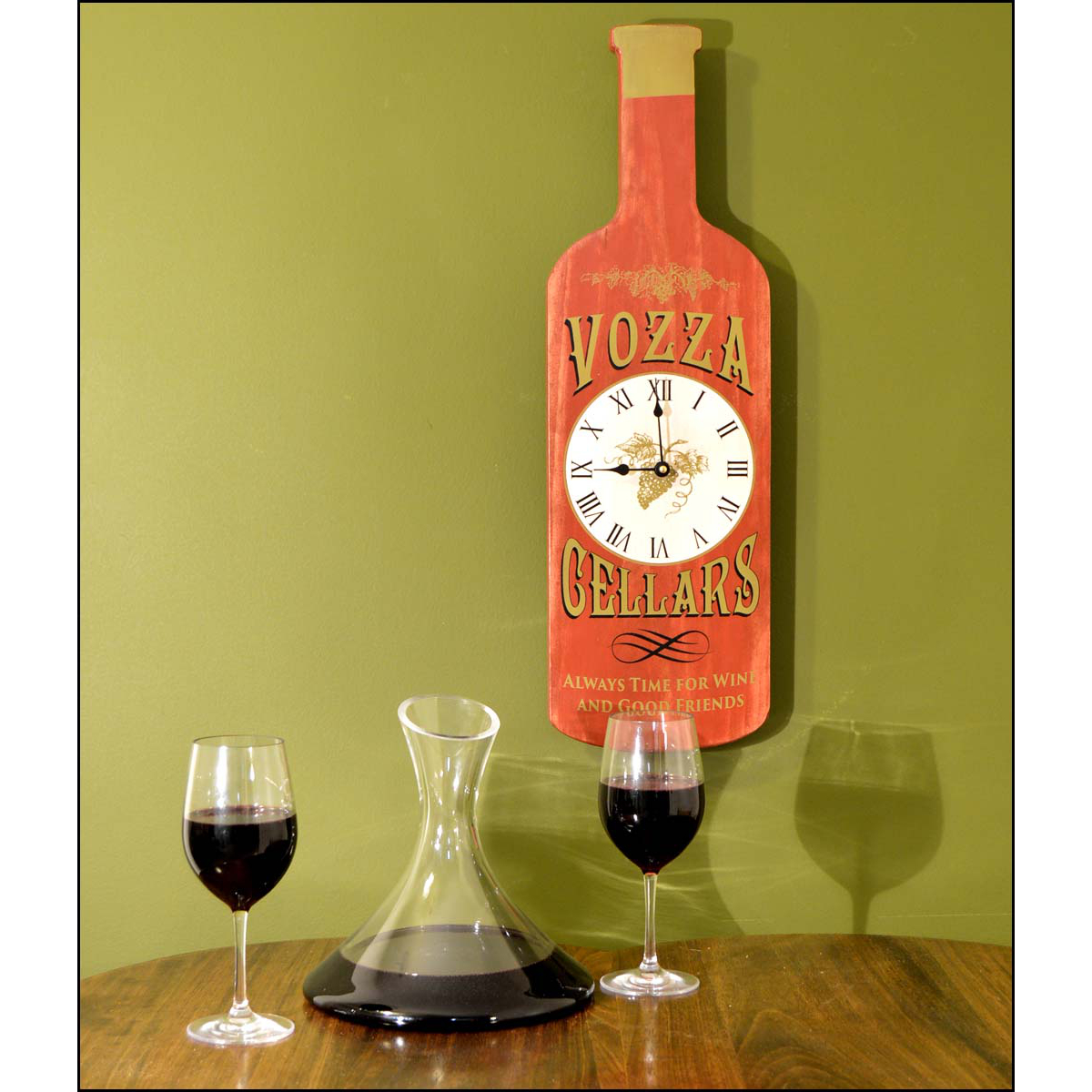 Personalized Wine Time Bottle Clock